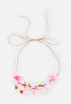Jewels and Lace - Floral Headband Pale Pink