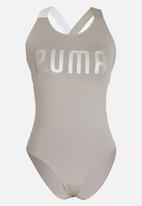 PUMA - En Pointe Bodysuit Taupe. Click to enlarge 4e238f893