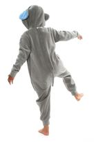 aFREAKa Clothing - Elephant Onesie Blue and Grey