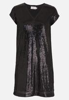 edit - Sequin Tunic Black