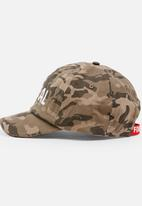 MINOTI - Baseball AOP Camo Peak Cap with Front Embroidery Multi-colour