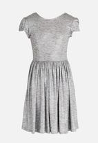 MINOTI - Shimmer Print Skater Dress Silver