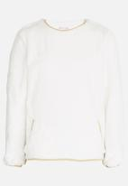 MINOTI - Jumper with lurex binding detail - Off White