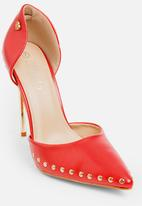 Miss Black - Fionn court heels - red