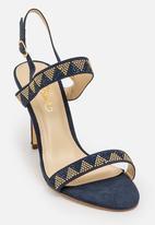 Miss Black - Riley Open Toe Heels Blue
