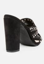 Miss Black - Tyrell Block Heels Black