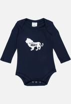 Pickalilly - Small But Mighty Printed Babygrow Navy