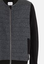 POP CANDY - Colour block bomber jacket - dark grey