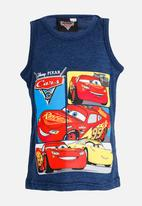 POP CANDY - Printed Cars Vest Navy