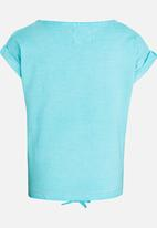 POP CANDY - Printed tie front tee - blue