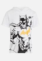 POP CANDY - Printed Batman Hooded Tee White