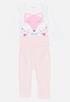 POP CANDY - Printed Bodysuit  Set Mid Pink
