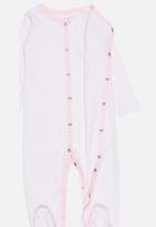 POP CANDY - Printed stripe sleep suit - pink & white