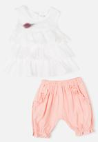 POP CANDY - Blouse and short set - white