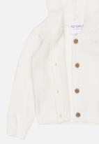POP CANDY - Hooded Cardigan White