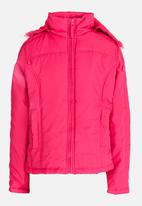 POP CANDY - Zip Through Hooded Jacket Mid Pink