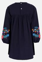 POP CANDY - Printed Long Sleeve Dress Navy