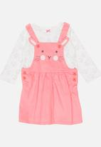 POP CANDY - Printed Dress Set Mid Pink