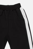 POP CANDY - Racing Stripe Pants Black
