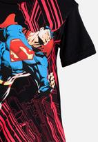 POP CANDY - Printed Superman Tee Black