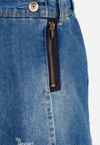 POP CANDY - Denim skirt - blue