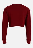 Rebel Republic - Frill Detail Sweater Burgundy