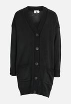 Rebel Republic - Cardigan with Pockets Charcoal