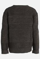 Rebel Republic - Cable Knit Pullover Grey