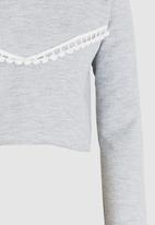 Rebel Republic - Frill Detail Sweater Grey