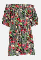 Rebel Republic - Bardot Style Dress Multi-colour