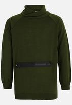Rebel Republic - Zip Hooded Jersey Khaki Green