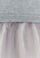 Rebel Republic - Combo Fleece Dress Grey