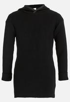 Rebel Republic - Hooded Rib Pullover Black