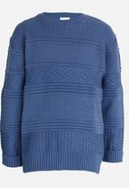 Rebel Republic - Cable Knit Pullover Blue