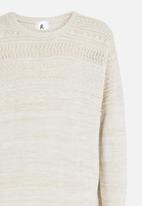 Rebel Republic - Cable Knit Jersey Cream