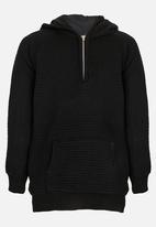 Rebel Republic - Zip Hooded Jersey Black