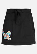 Rebel Republic - Pocket Detail Skirt Blue