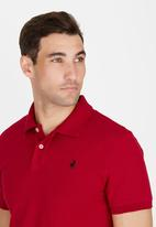 POLO - Classic Golfer Dark Red