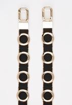 Joy Collectables - Metal Embellished Belt Black