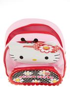 Zoom - Backpack with daisy print on front pouch