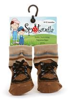 Spotanella - Lace-up-look socks with non-slip soles