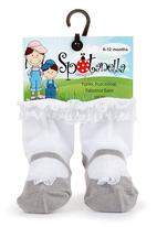 Spotanella - Mary-Jane socks with lace trim