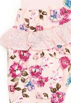 Eco Punk - Newborn floral pants with frill