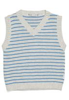 Phoebe & Floyd - Sleeveless knit pullover with stripes