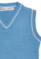 Phoebe & Floyd - Sleeveless knit pullover with stripe detail