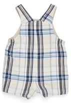 Phoebe & Floyd - Reversible checked twill dungarees
