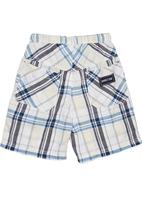 Phoebe & Floyd - Checked elasticated shorts