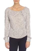 LABEL FEMME - Knit top with button detail
