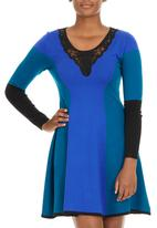 YUKA - Tricolour A-line dress