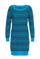 YUKA - Two-tone tunic with pattern